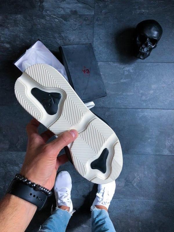 Шикарные женские кроссовки adidas y-3 kaiwa black/white 😍 (вес... - Фото 2