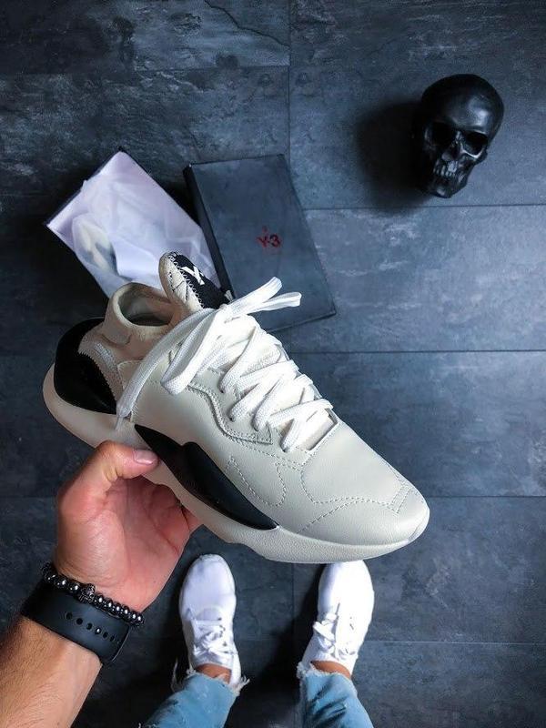 Шикарные женские кроссовки adidas y-3 kaiwa black/white 😍 (вес... - Фото 3