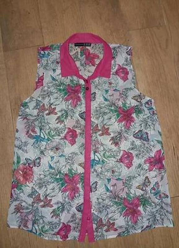 Яркая шифоновая блуза - Фото 3