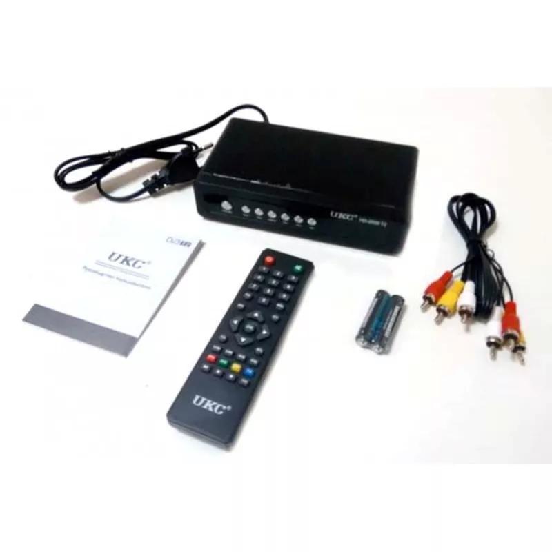 Тюнер цифровой UKC DVB-T2 2058 Metal с поддержкой wi-fi адаптера - Фото 2