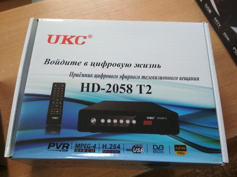 Тюнер цифровой UKC DVB-T2 2058 Metal с поддержкой wi-fi адаптера - Фото 5