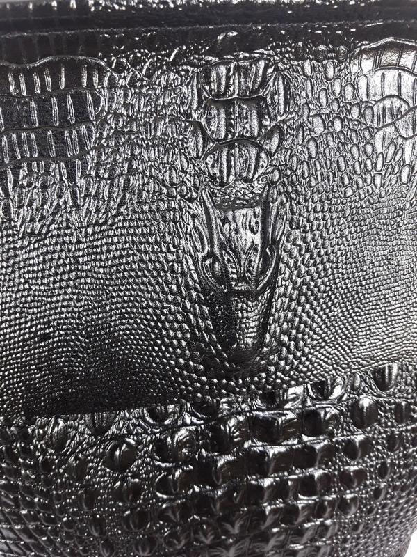 """Женский кожаный рюкзак """"alligator"""" черный - Фото 5"""