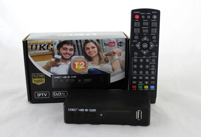 Цифровой эфирный Тюнер T2 UKC 0967 wi-fi DVB-Т2 ресивер - Фото 5