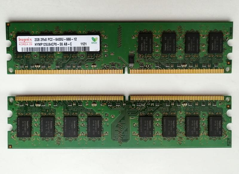 Комплект оперативной памяти для ПК 8Gb, Hynix DDR2-800 2Gb x 4шт. - Фото 2