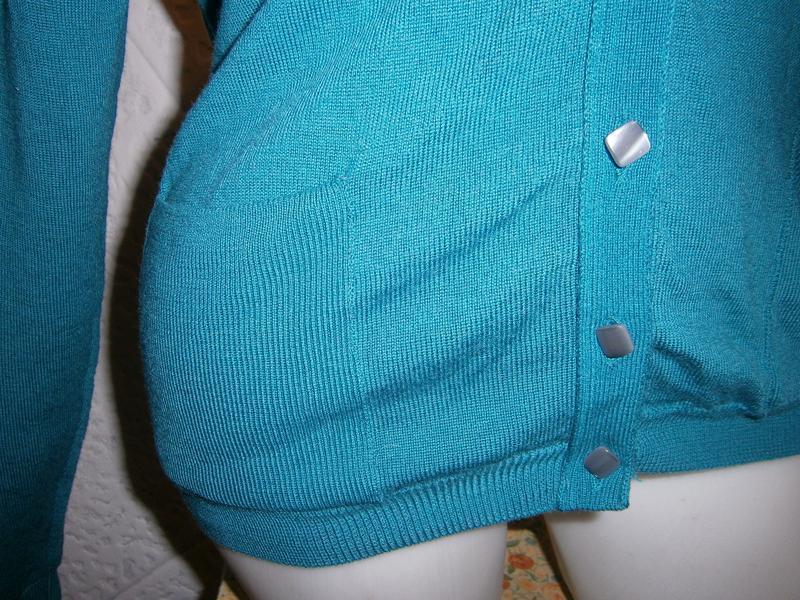 Шерсть кофта цвета морволны  длинный рукав - Фото 3