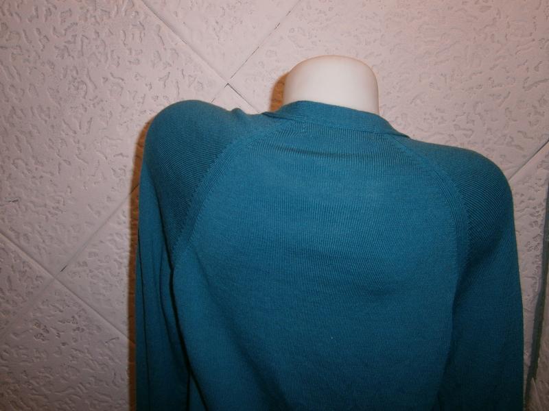Шерсть кофта цвета морволны  длинный рукав - Фото 5