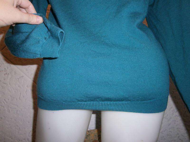 Шерсть кофта цвета морволны  длинный рукав - Фото 6