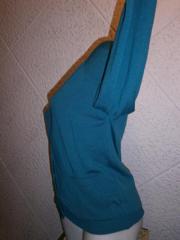 Шерсть кофта цвета морволны  длинный рукав - Фото 7