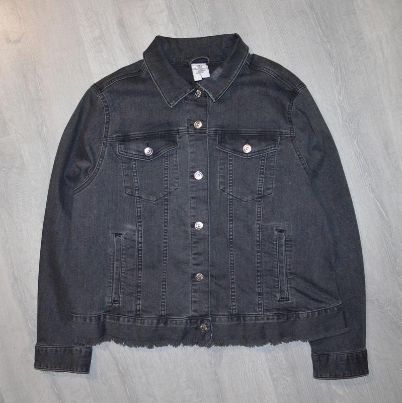 Джинсовка, джинсовая куртка h&m p 22/52 - Фото 2