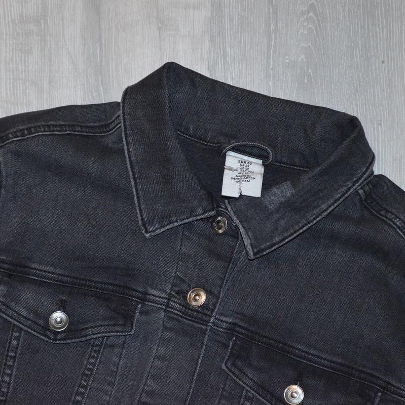 Джинсовка, джинсовая куртка h&m p 22/52 - Фото 3