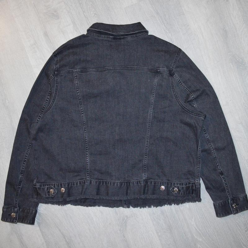 Джинсовка, джинсовая куртка h&m p 22/52 - Фото 5