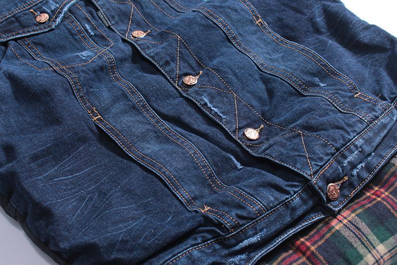 Мужская джинсовая жилетка - Фото 8