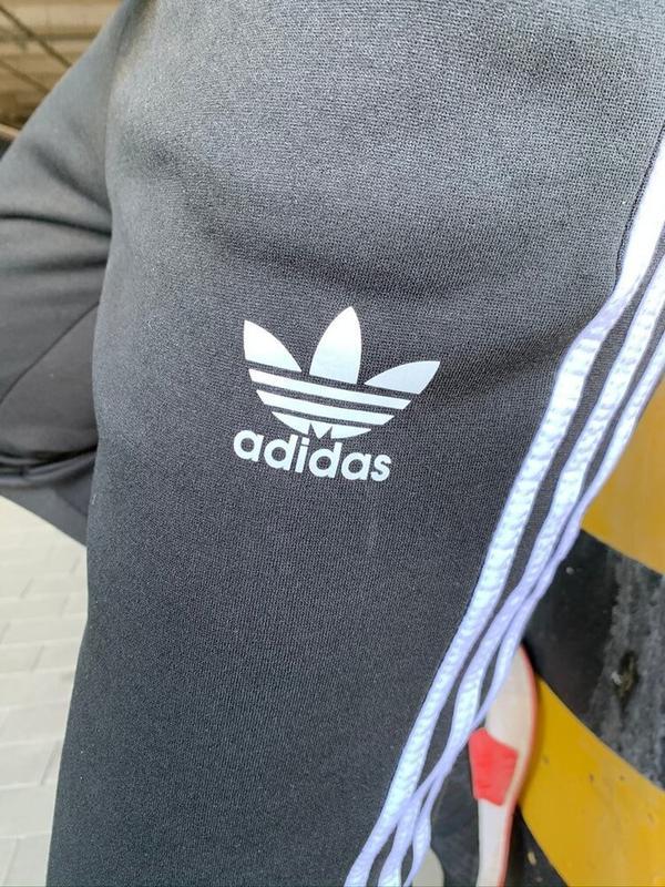 Утеплённые штаны Adidas 3 Stripes Черные (28115) - Фото 5