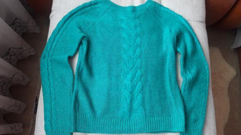 Красивый свитер с косами в составе мохер h&m - Фото 2