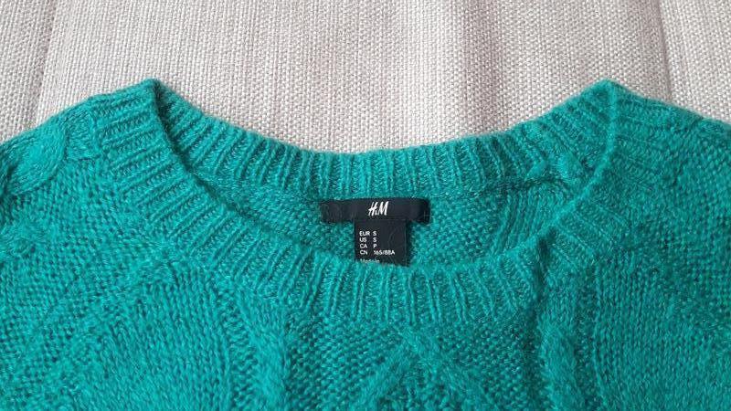 Красивый свитер с косами в составе мохер h&m - Фото 3