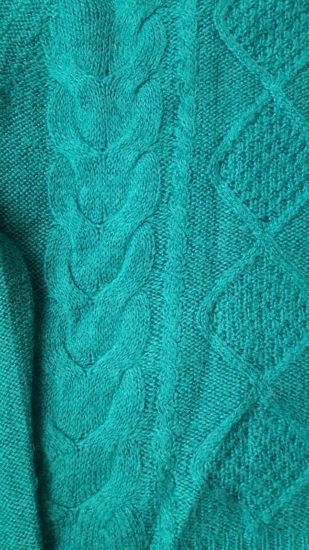 Красивый свитер с косами в составе мохер h&m - Фото 4