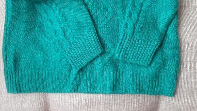 Красивый свитер с косами в составе мохер h&m - Фото 5