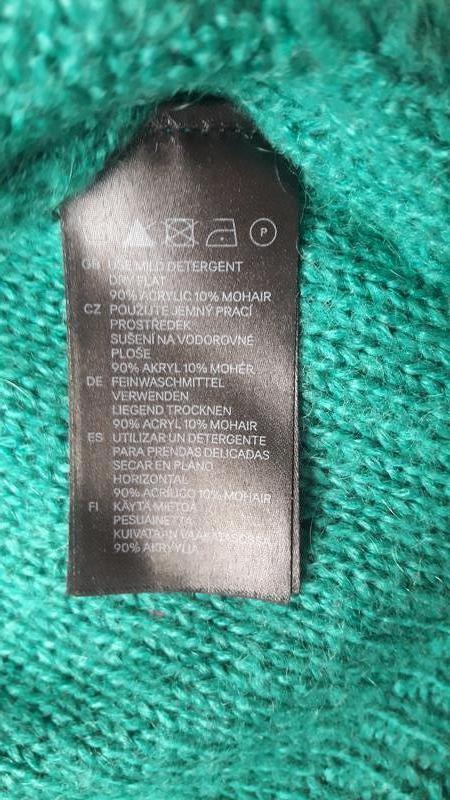 Красивый свитер с косами в составе мохер h&m - Фото 6