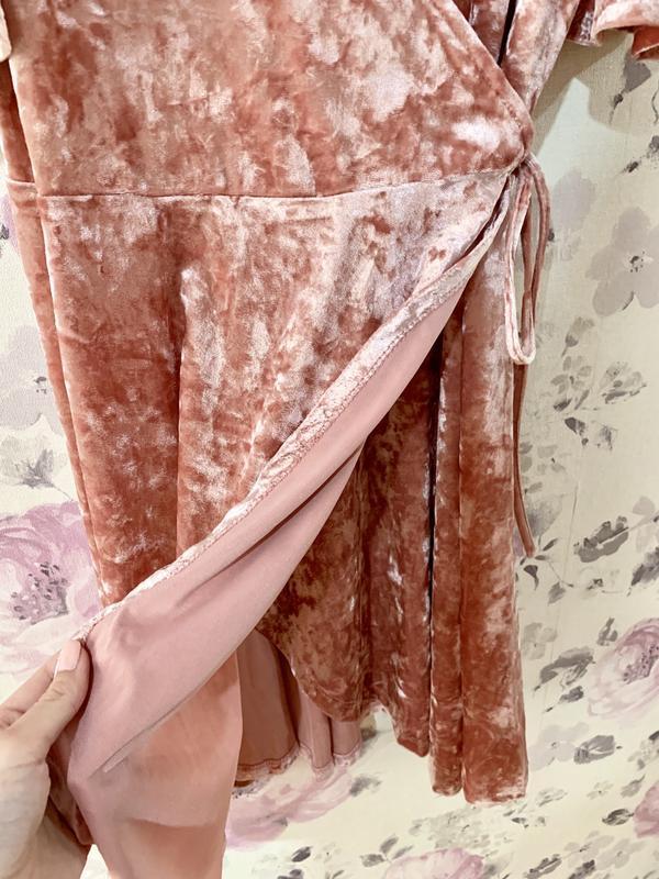 Большой выбор!платье велюр с открытыми плечами - Фото 3