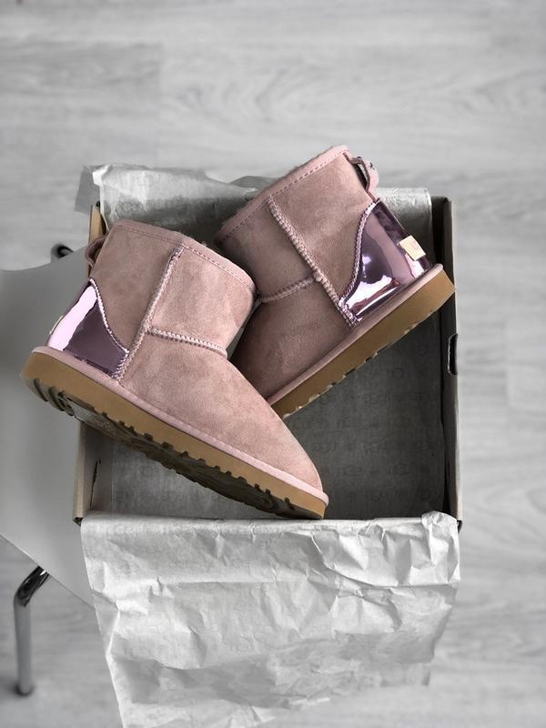 Ugg classic short dus pink, угги женские зимние, розовые - Фото 8