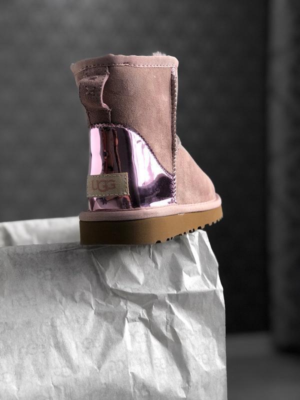 Ugg classic short dus pink, угги женские зимние, розовые - Фото 9