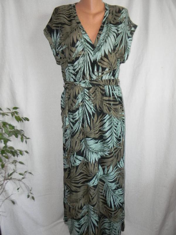 Натуральное длинное платье h&m