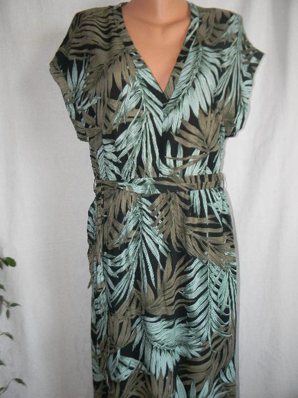 Натуральное длинное платье h&m - Фото 3