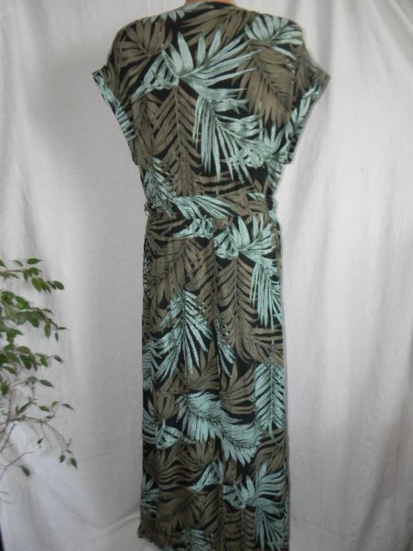 Натуральное длинное платье h&m - Фото 4