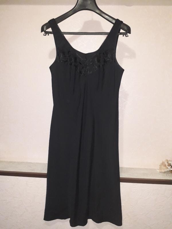 Женская черная ночнушка комбинация marks & spencer - Фото 2