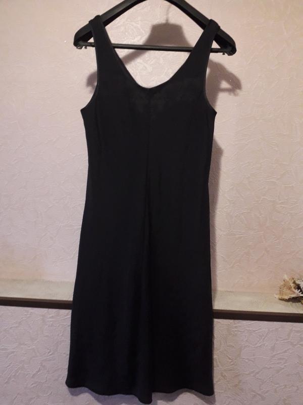 Женская черная ночнушка комбинация marks & spencer - Фото 5