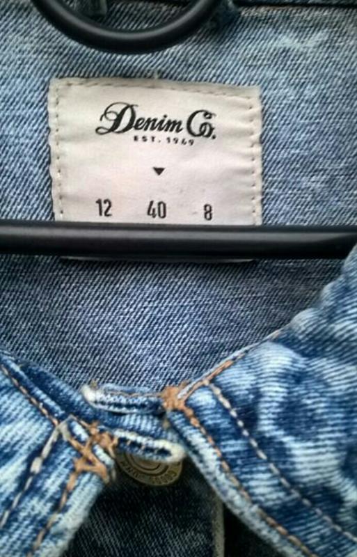 Джинсовая куртка джинсовка пиджак джинсовый варенка denim co - Фото 3