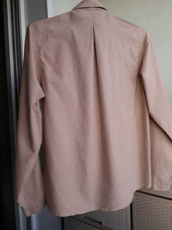 Рубашка с накладными карманами натуральный коттон сафари милитари - Фото 4
