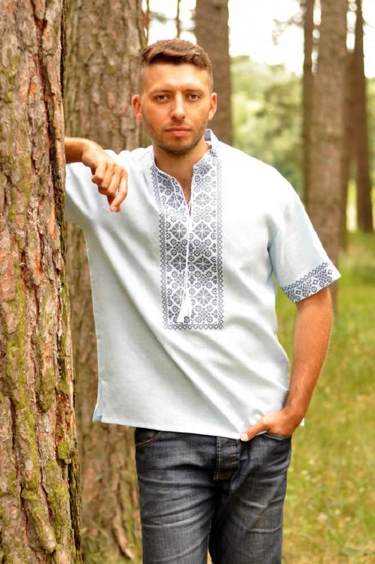 Комплект вишиванок - чоловіча сорочка і жіноча блуза - Фото 4