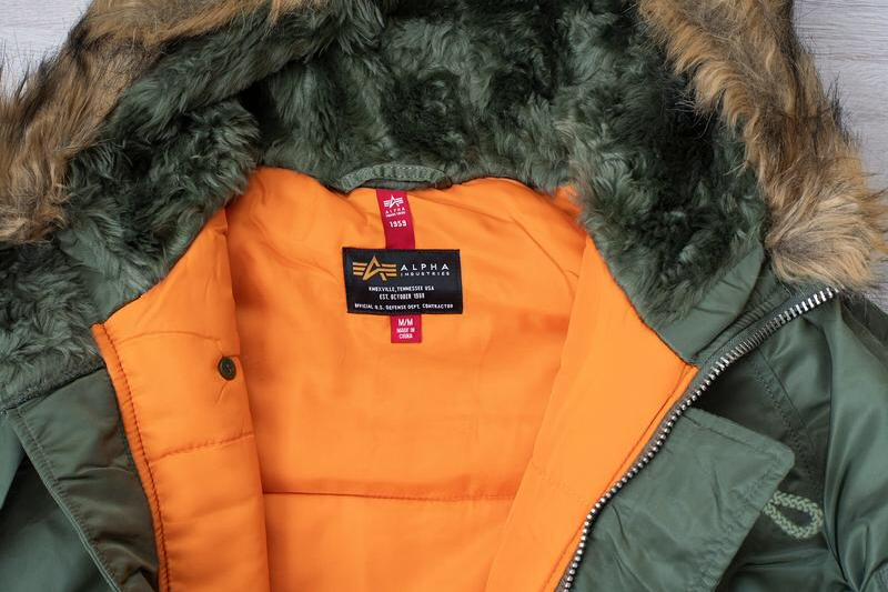 Куртка аляска альфа парка куртка alpha industries n-3b slim fit - Фото 2