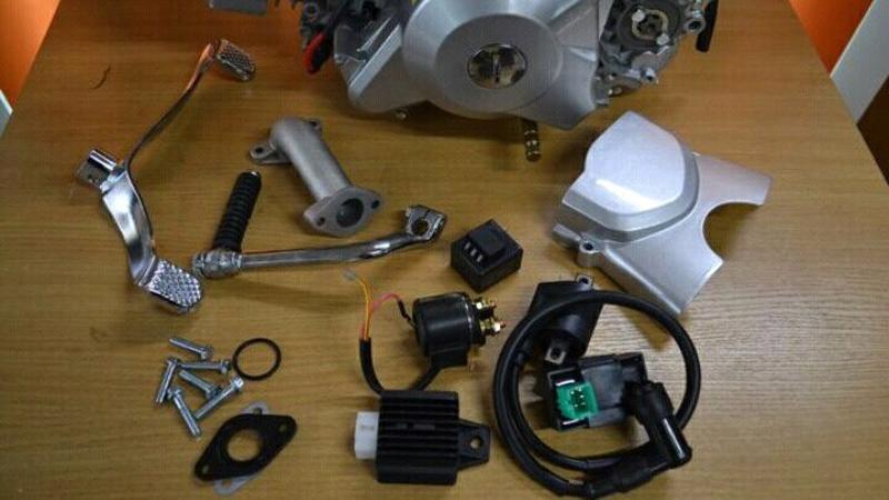 Двигатель для питбайка в сборе, 125см3 с эл.старт - Фото 5