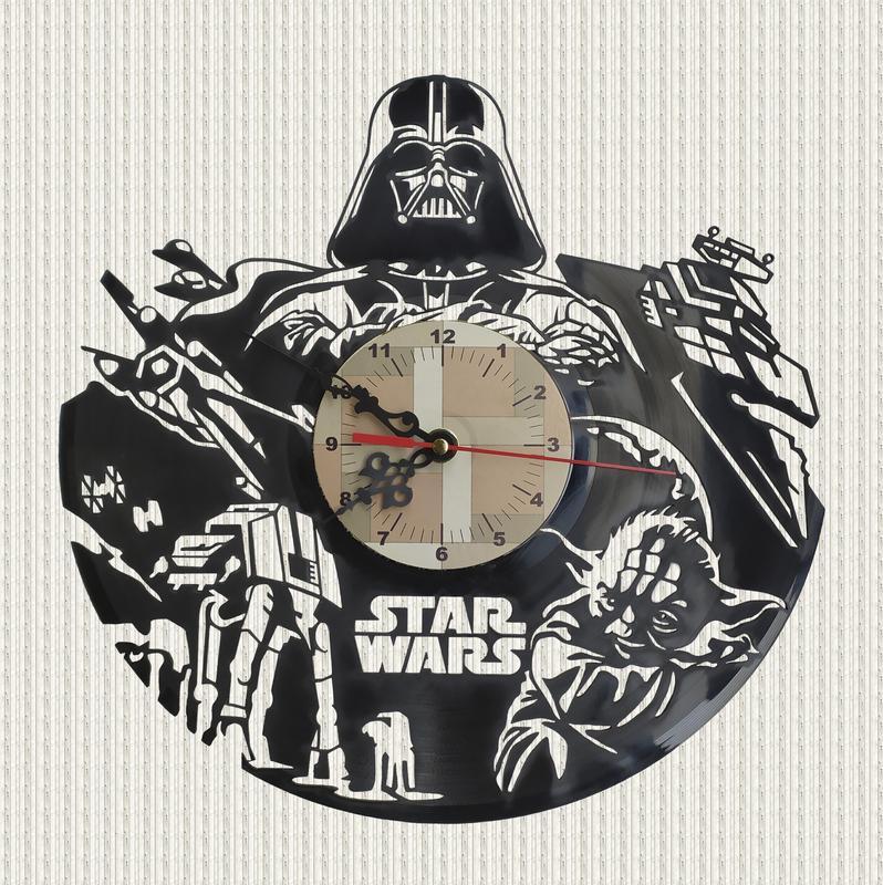 Часы из пластинки Star Wars стар ворс