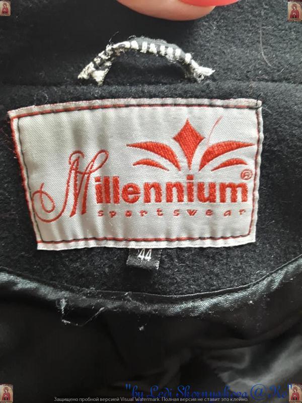 Базовое строгое чёрное пальто деми с кожаными вставками на 70 ... - Фото 10