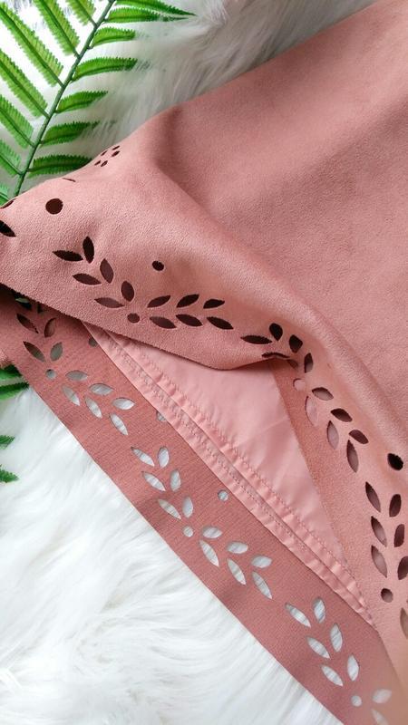 Пудровая юбка трапеция под замш primark - Фото 4