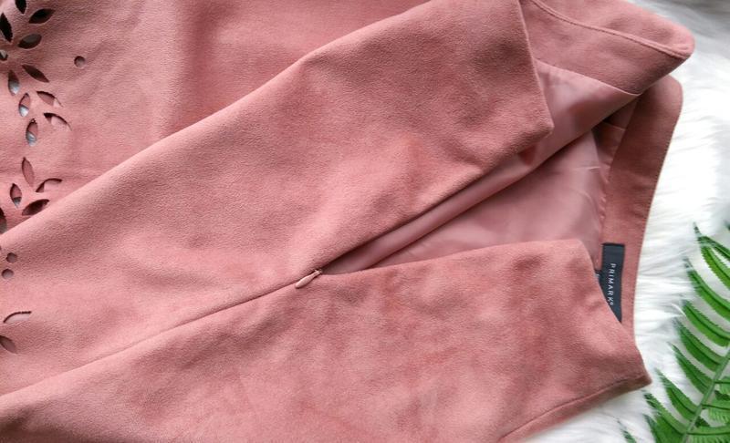 Пудровая юбка трапеция под замш primark - Фото 6
