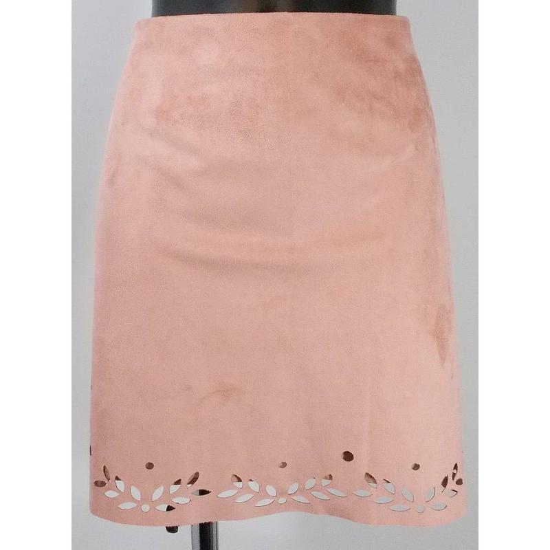 Пудровая юбка трапеция под замш primark - Фото 8