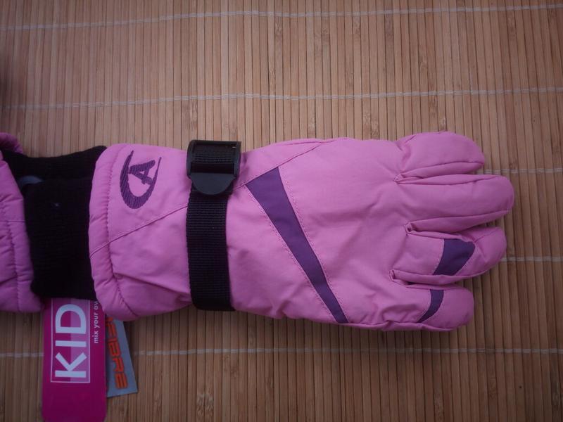 Лыжные термо перчатки непромокаемые рукавички 8-12 лет. - Фото 5