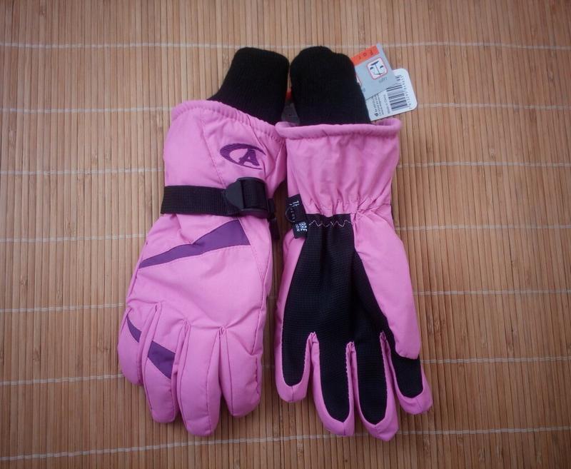 Лыжные термо перчатки непромокаемые рукавички 8-12 лет.
