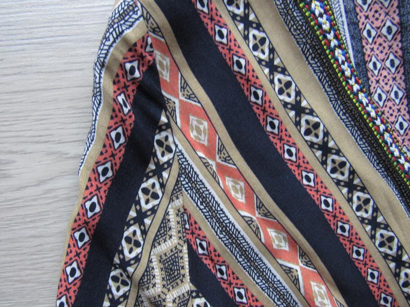 Платье в орнамент в стиле бохо с бахромой - Фото 4