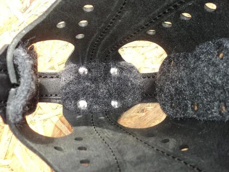 Намордник кожаный с каркасом для атаки (G) - Фото 3