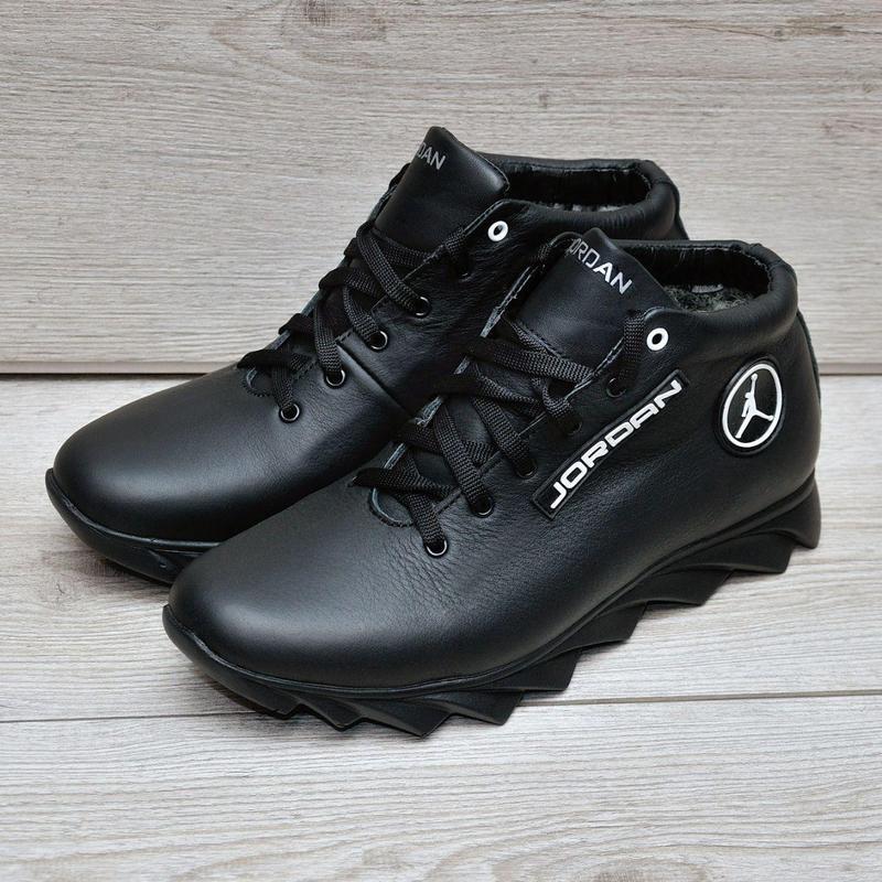 Jordan кожанные зимние ботинки