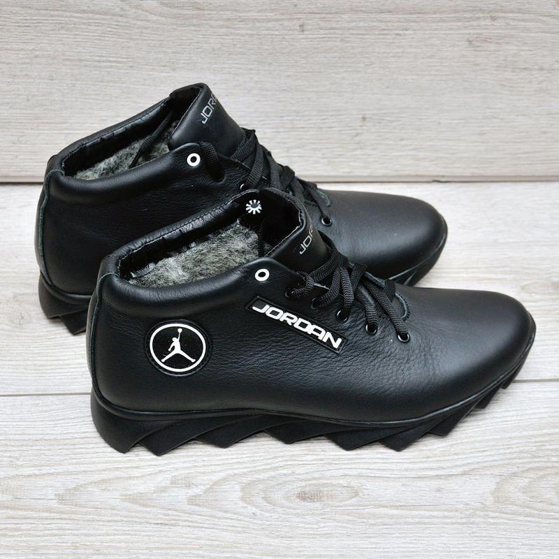 Jordan кожанные зимние ботинки - Фото 3