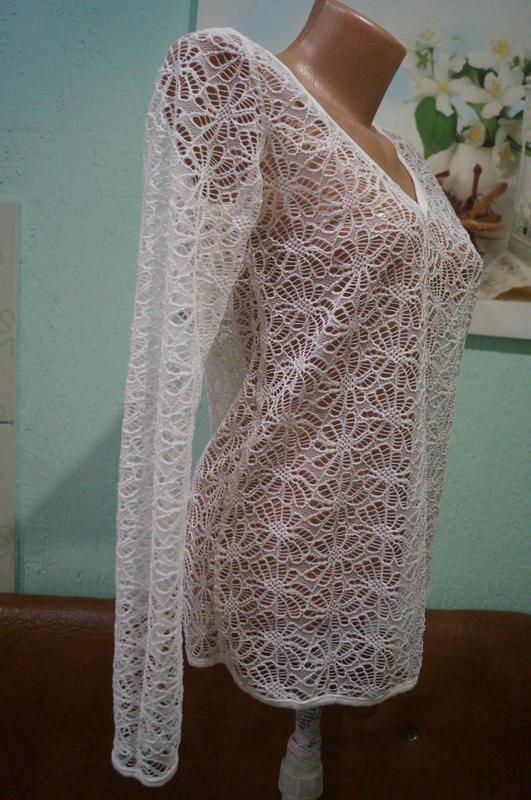 Кружевная блуза р.м,бренд  sisters - Фото 3