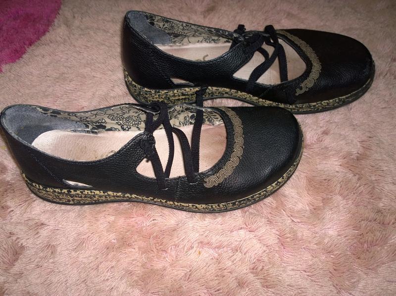 Кожаные туфли rieker размер 37 - Фото 4