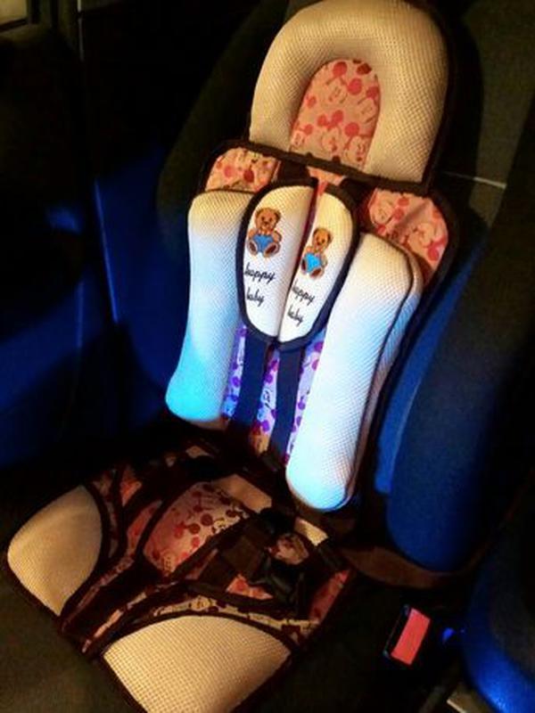 Автокресло бескаркасное детское бустер накидка на сидение - Фото 3