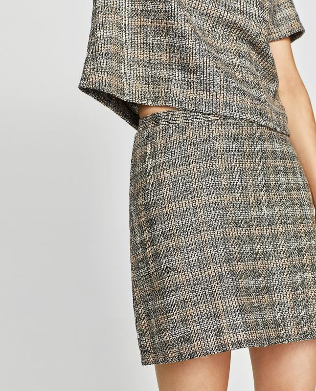Твидовая юбка от zara